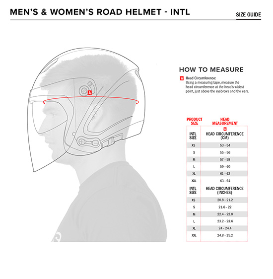 Alpinestars MX Helmet Fit Size Guide