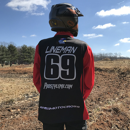 American Made Custom Race Jacket MX Red