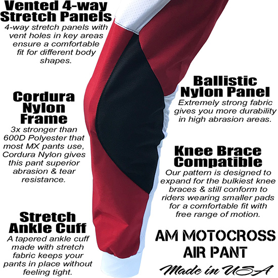 Best Motocross Pants AM Red White