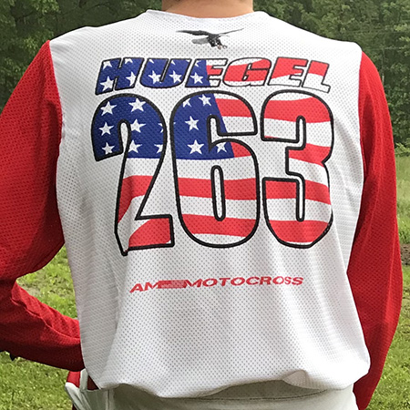 Sublimated American Flag MX Jersey Print