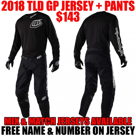 2018 TLD GP MONO GEAR COMBO BLACK