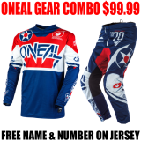ONEAL ELEMENT WARHAWK GEAR COMBO BLUE/ RED