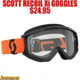 2018 SCOTT RECOIL Xi GOGGLES BLACK/ ORANGE