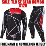 TLD SE METRIC GEAR COMBO BLACK/ RED