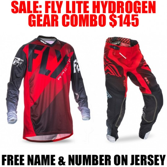 2017 FLY LITE HYDROGEN GEAR COMBO RED