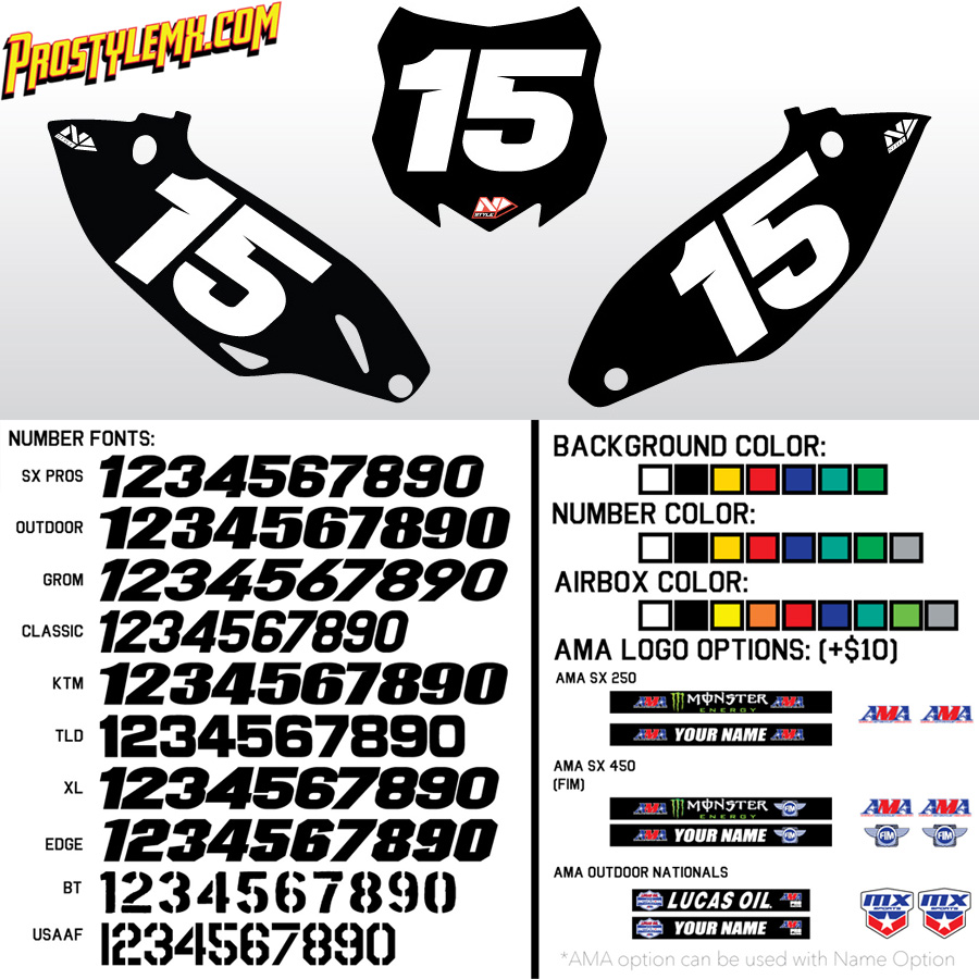 N-Style Solid Custom Number Plate Backgrounds