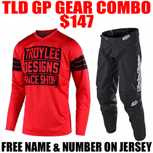 TLD GP CARLSBAD GEAR COMBO RED/ BLACK