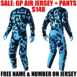 2018 TLD GP AIR MAZE GEAR COMBO TURQUOISE/ NAVY