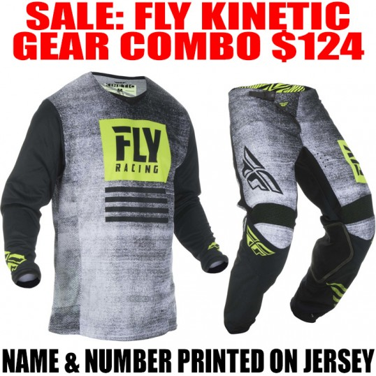 2019 FLY KINETIC NOIZ GEAR COMBO BLACK/ HI-VIS