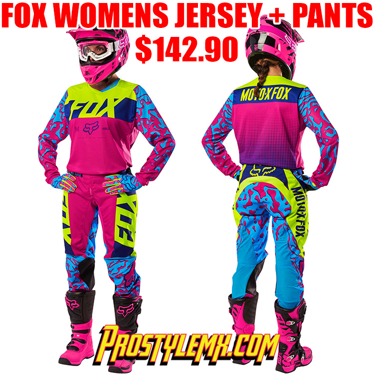 0ec0c80b3ba Best Custom MX Jersey Printing. 2016 FOX 180 WOMENS GEAR COMBO PINK