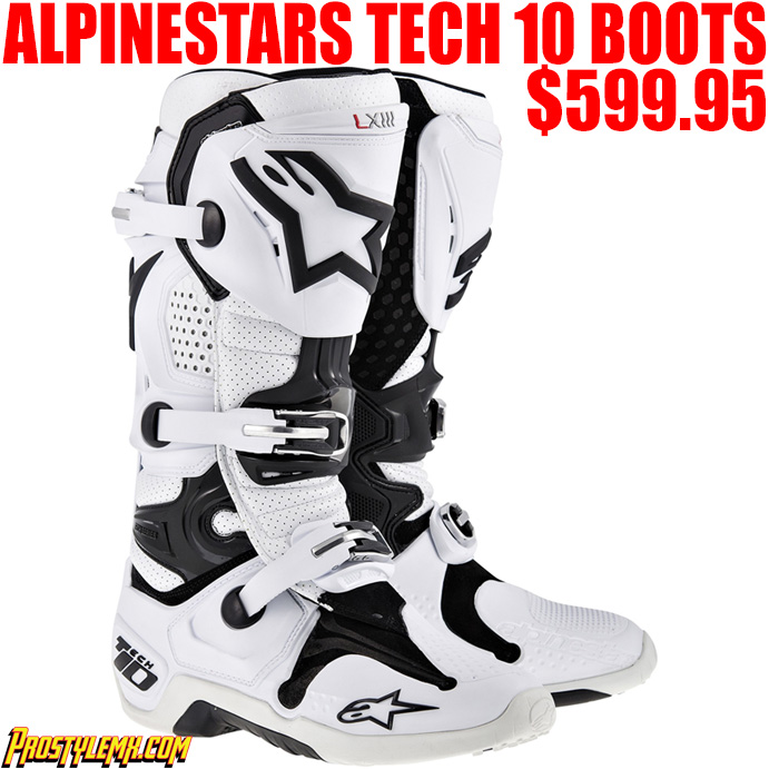 ALPINESTARS TECH 10 WHITE VENTED