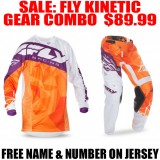 2017 FLY KINETIC CRUX GEAR COMBO ORANGE