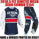 2018.5 FLY KINETIC MESH GEAR COMBO NAVY