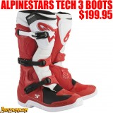 ALPINESTARS TECH 3 RED/ WHITE