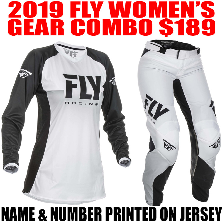 2019 FLY LITE WOMENS GEAR COMBO WHITE