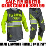 2018 FLY KINETIC ERA GEAR COMBO GREY/ HI VIS
