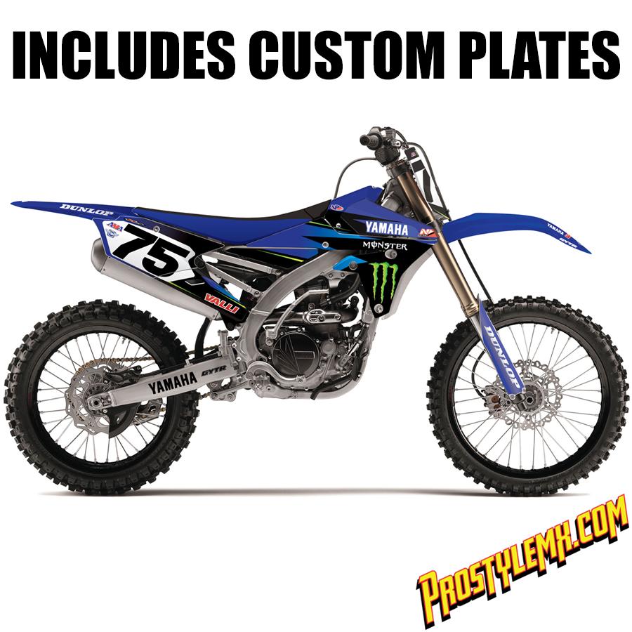 Valli Yamaha Monster Energy Graphics Kit Pro Style MX