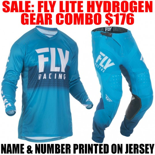 2019 FLY LITE HYDROGEN GEAR COMBO BLUE