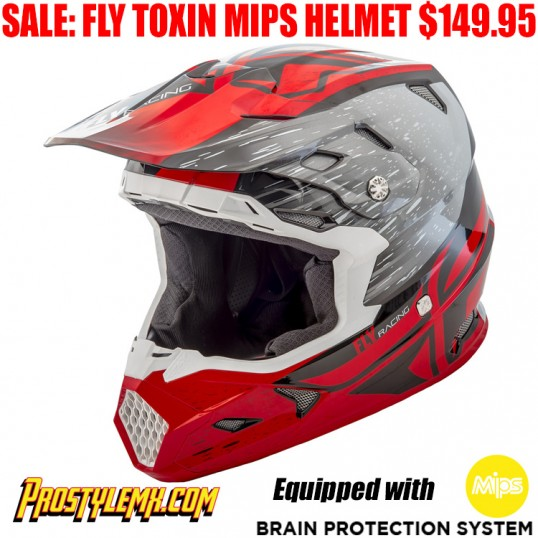 FLY TOXIN MIPS RESIN HELMET RED