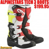 ALPINESTARS TECH 3 RED/ FLO YELLOW