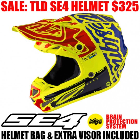 2017 TLD SE4 CARBON FACTORY HELMET YELLOW