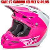FLY F2 CARBON HELMET PURE PINK/ WHITE