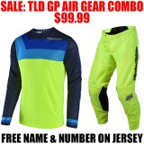 2018 TLD GP AIR PRISMA GEAR COMBO FLO YELLOW
