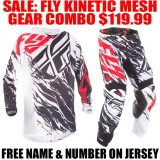 2017.5 FLY KINETIC RELAPSE MESH GEAR COMBO RED/ WHITE