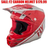 FLY F2 CARBON HELMET REWIRE RED
