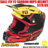 FLY F2 CARBON MIPS HELMET PIECK REPLICA BLACK/ RED/ YELLOW