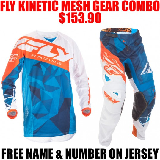 2017.5 FLY KINETIC CRUX MESH GEAR COMBO BLUE/ ORANGE