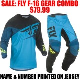 2019 FLY RACING F16 GEAR COMBO BLUE