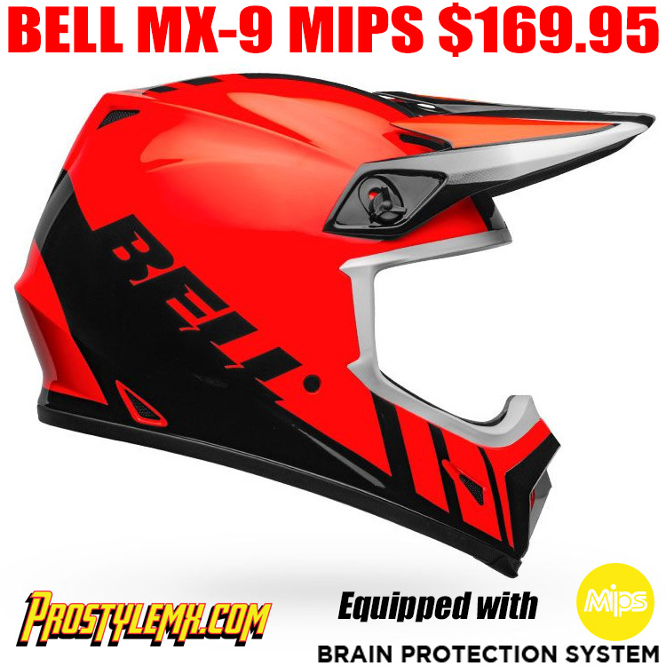 BELL MX-9 MIPS HELMET DASH ORANGE/ BLACK