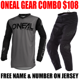 ONEAL THREAT GEAR COMBO GRAY/ BLACK