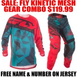 2017.5 FLY KINETIC CRUX MESH GEAR COMBO TEAL/ RED
