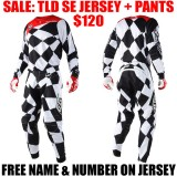 2018 TLD SE JOKER GEAR COMBO BLACK/ WHITE