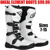 ONEAL MX ELEMENT BOOTS WHITE