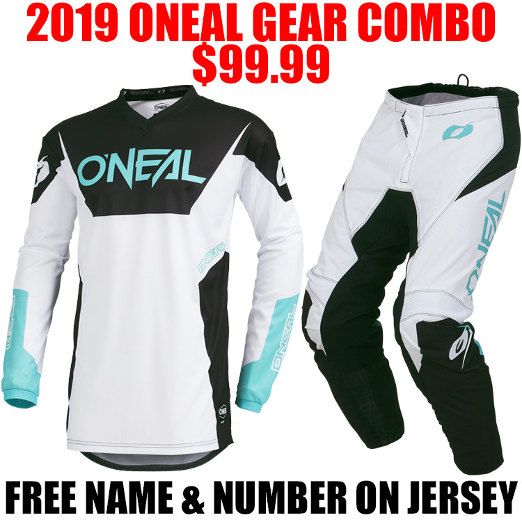 2019 ONEAL ELEMENT RW GEAR COMBO WHITE