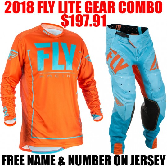 2018 FLY LITE HYDROGEN GEAR COMBO ORANGE