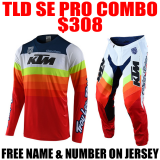 TLD SE PRO KTM MIRAGE TEAM GEAR COMBO WHITE/ RED