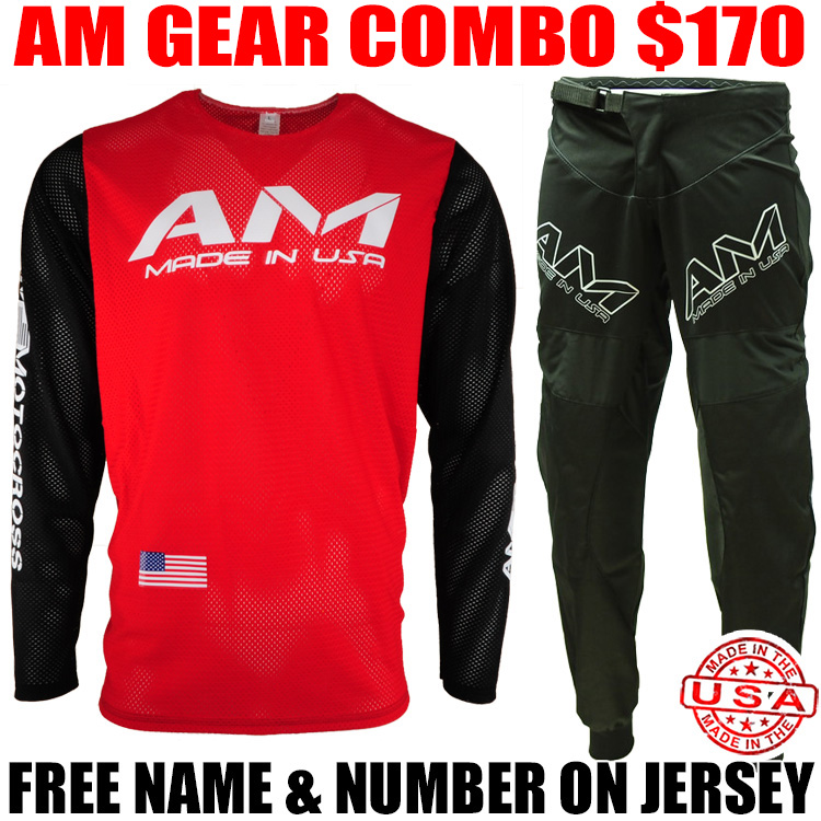 AM MESH 2.0 JERSEY GEAR COMBO RED/ BLACK