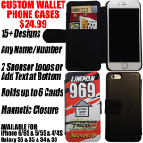 Custom Wallet Flip Phone Case - Race Design