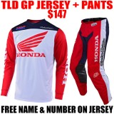 2019 TLD GP HONDA GEAR COMBO RED/ NAVY