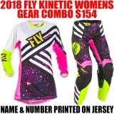 2018 FLY KINETIC WOMENS GEAR COMBO PINK/ HI VIS