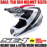 2017 TLD SE4 CARBON TWILIGHT HELMET WHITE