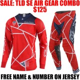 TLD SE AIR METRIC GEAR COMBO RED/ NAVY
