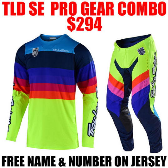 TLD SE PRO MIRAGE GEAR COMBO FLO YELLOW
