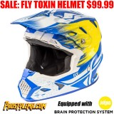 FLY TOXIN MIPS RESIN HELMET BLUE/ YELLOW
