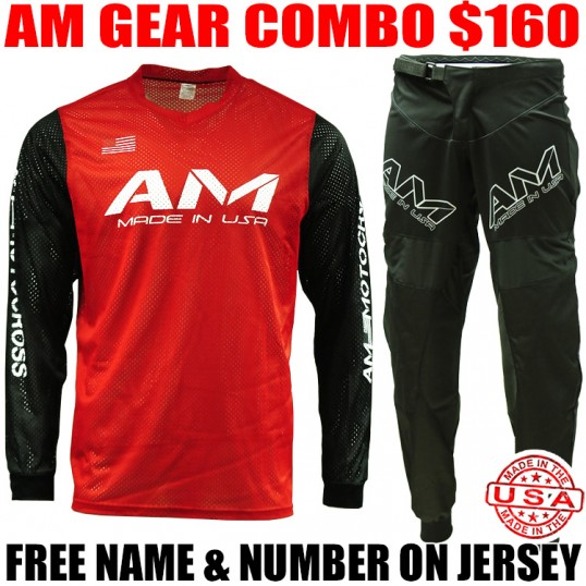 AM MESH JERSEY GEAR COMBO RED/ BLACK