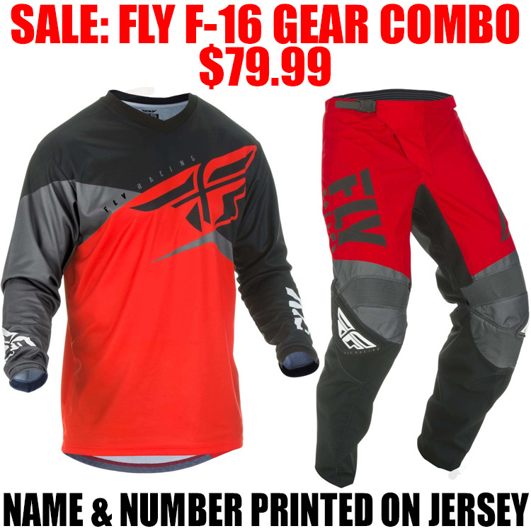 Fly Racing 2019 F-16 Jersey and Pants Combo Youth Red//Black//Gray Medium,20